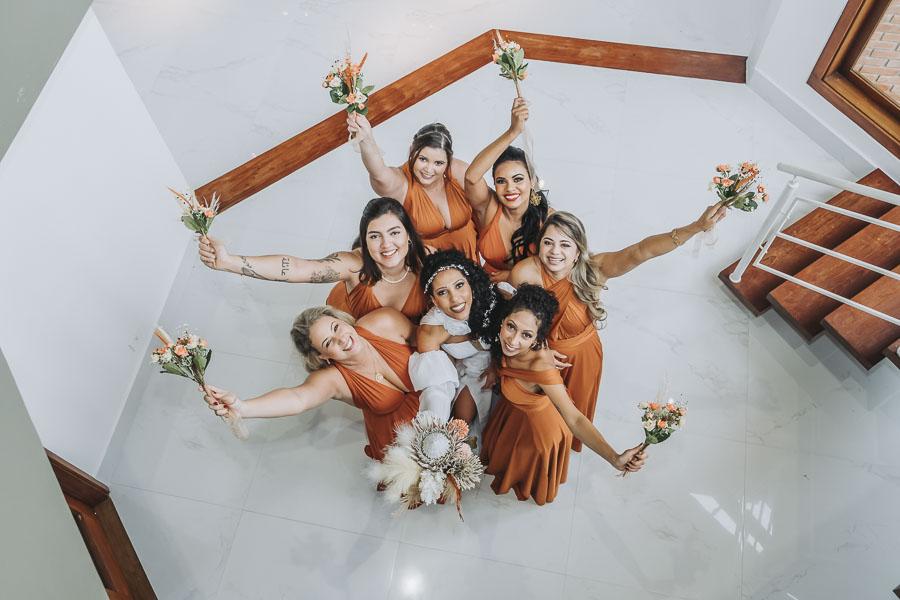 foto de noiva com madrinhas 15 - foto com madrinhas Ideia de fotos criativas de noiva com madrinhas!