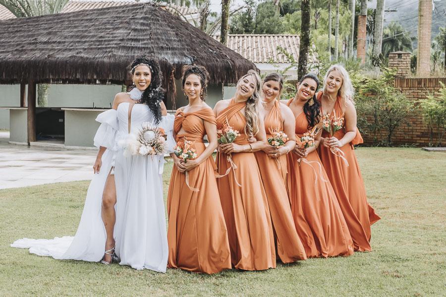 foto de noiva com madrinhas 16 - foto com madrinhas Ideia de fotos criativas de noiva com madrinhas!