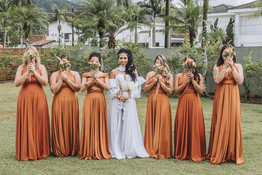 foto de noiva com madrinhas 18 - foto com madrinhas Ideia de fotos criativas de noiva com madrinhas!