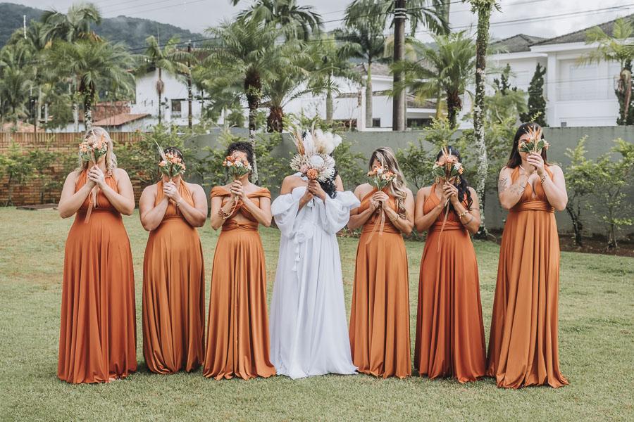 foto de noiva com madrinhas 19 - foto com madrinhas Ideia de fotos criativas de noiva com madrinhas!