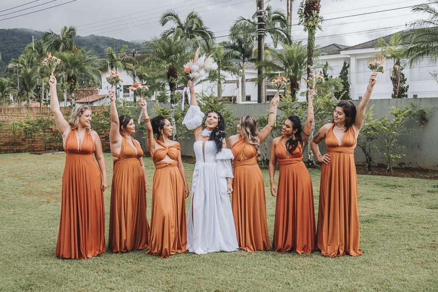 foto de noiva com madrinhas 20 - foto com madrinhas Ideia de fotos criativas de noiva com madrinhas!