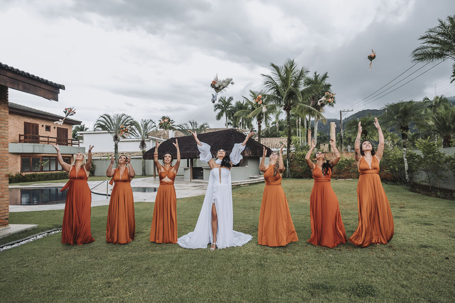 foto de noiva com madrinhas 21 - foto com madrinhas Ideia de fotos criativas de noiva com madrinhas!