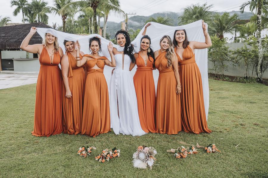foto de noiva com madrinhas 26 - foto com madrinhas Ideia de fotos criativas de noiva com madrinhas!