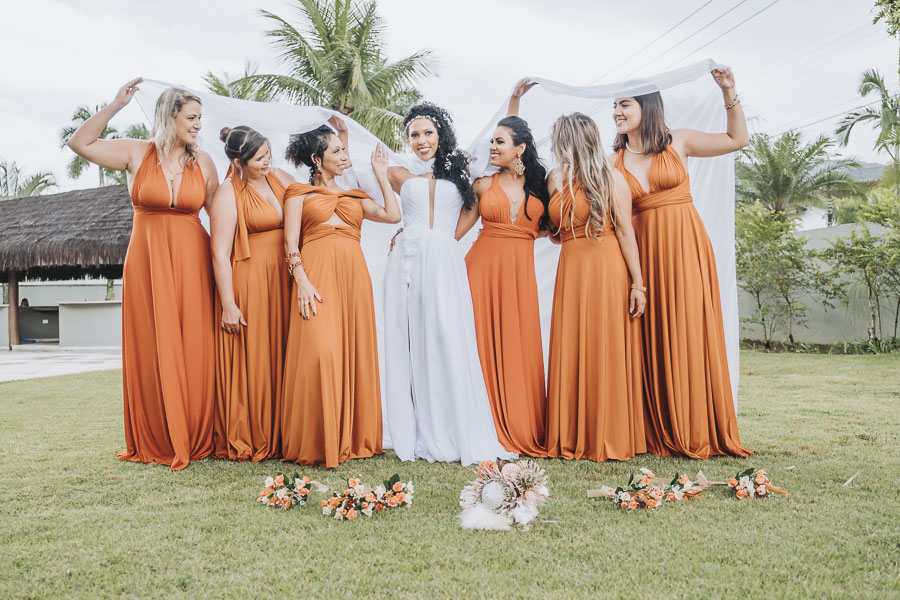 foto de noiva com madrinhas 27 - foto com madrinhas Ideia de fotos criativas de noiva com madrinhas!