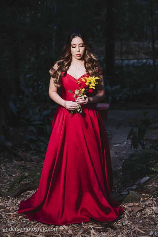 ensaio fotografico feminino vestido vermelho horto florestal4